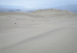 I'm the only one out here walking the Panamint Dunes today