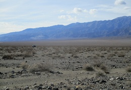 I begin my hike, leaving the FJ to watch over Panamint Valley