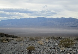 I glance back across Panamint Valley to the Argus Range