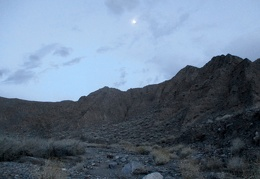 Moonrise over Nova Canyon at sunset!