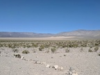 At the end of the road is a view of the Panamint Dunes