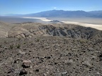 I've just arrived on the plateau above Big Four Mine Canyon overlooking Panamint Dry Lake