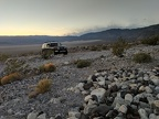 I find a nice campsite nearby with a view of Panamint Dunes