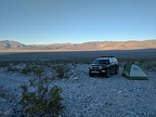 Across Panamint Dry Lake, I see Lee Wash cutting up into the Darwin Plateau