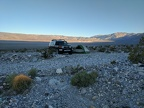 Sun is starting to hit the Panamint Dunes over there