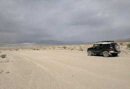 It's looking very gray further up Eureka Dunes Road