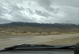 Snow tips the Inyo Mountains