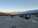 Looking back, I see that Saline Valley is already in the sunset shadow