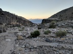Behind me is sunset glow over Saline Valley