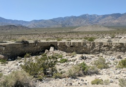 Water flowing down Waucoba Wash exposes many layers of earth