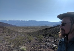 Nice view back across upper Waucoba Wash to the Inyo Mountains