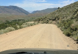 I drive out from Obsidian Campground toward the Walker River valley