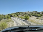 I gently keep the pedal to the metal on this sandy stretch on the Mono Lake ring road
