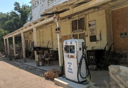 The defunct Benton Hot Springs gas pump
