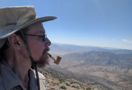 Summit corncob pipe pose, but not smoking it this time
