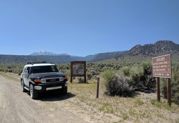 Leaving Taylor Canyon, with Glass Mountain up above