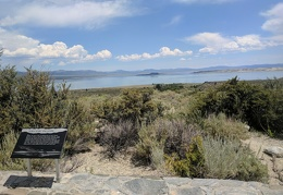 I stop at the Mono Lake viewing spot before getting back on the road