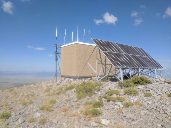 Glass Mountain peak has solar panels