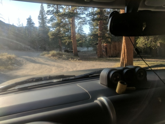One of my favorite corncob pipes is waiting for me on the FJ's dashboard