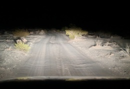 A sandy, washboarded road guided me to my Eureka Valley campsite last night
