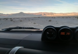 It's a chilly 28 degrees here at Eureka Dunes this morning