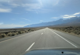 After a few days off the grid, I'm now driving full speed on Highway 395 pavement
