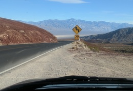 2.5 hours later, I'm driving down into Panamint Valley on Highway 190