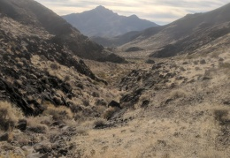 I take a look back at one of the peaks in the Nopah Range Wilderness