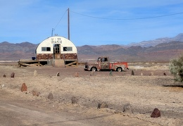 I do the scenic drive over to Tecopa Hot Springs and the old laundromat