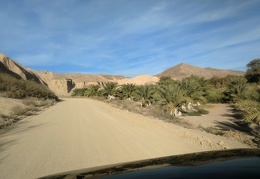 The road out of China Ranch date farm is super-scenic