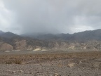 Rain clouds are settling in over parts of the Grapevine Mountains