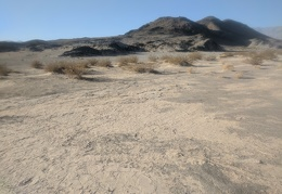 Should I climb up Lake Hill or walk out onto the dry lake?