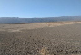 I walk, focusing on the Darwin Plateau on the other side of Panamint Dry Lake