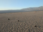 I'm watching those rays of light hit the Panamint Dunes in the distance