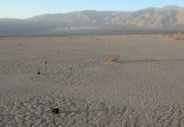 Counting the minutes until there's no more sun lighting up the Panamint Dunes