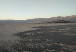 Panamint Valley grows dim in the sunset