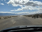 Dust ahead on Panamint Valley Road