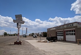 I stop at a dead gas station in Mina, Nevada