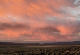 I end my day with the beauty of pink clouds over the dry lake