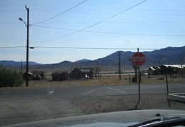 I stop at the stop sign in Mina, Nevada