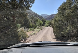 Pine Creek campground ahead