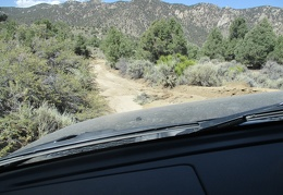 I return to the FJ and begin the drive down out of the Excelsior Mountains