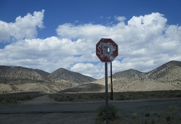My stop sign is well shot-up, welcome to Nevada!