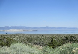 Mono Lake comes into view, with Bodie Hills behind