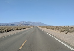 I drive up Hwy 127 toward Death Valley