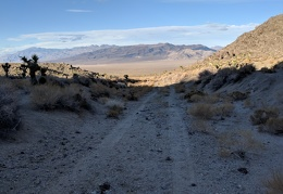I join up with a dirt road for easier hiking