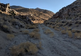 A  final look back up Black Rock Canyon before I walk the valley