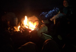 And a wonderful Friendsgiving campfire warms the chilly evening