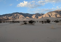 Panamint Dunes now hide in the shadow