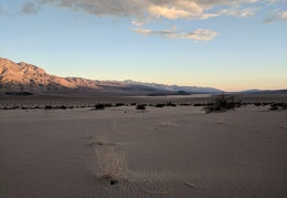 I leave the edge of the Panamint Dunes field for the day